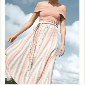 Anthropologie Tregene Sun-striped Maxi Skirt